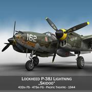록히드 P-38 라이트닝-Skidoo 3d model