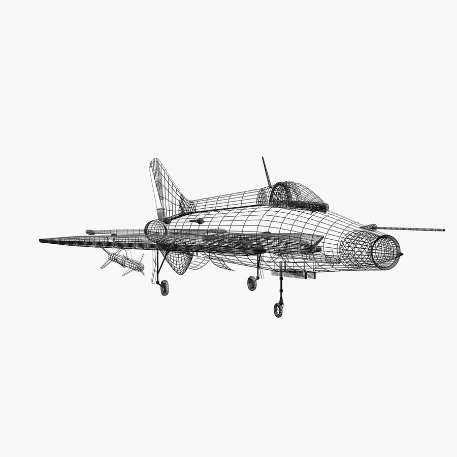 Mig-21 royalty-free 3d model - Preview no. 4