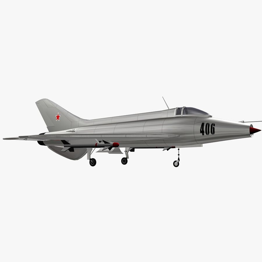 Mig-21 royalty-free 3d model - Preview no. 2