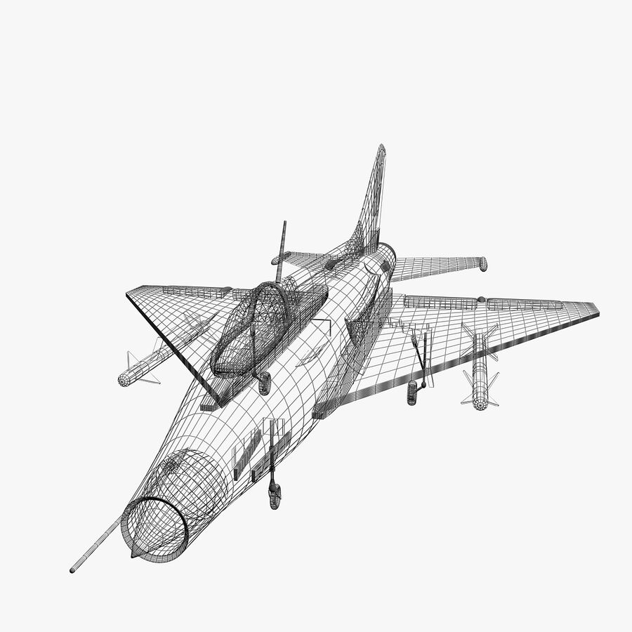 Mig-21 royalty-free 3d model - Preview no. 5