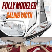Yacht à voile 3d model