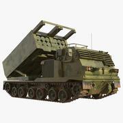 Sistema de cohetes de lanzamiento múltiple M270 modelo 3d