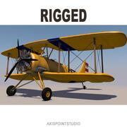 黄色双翼飞机 3d model