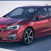 Subaru Impreza Estate EU 2018 3d model