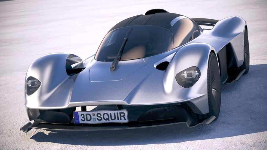 Aston Martin Valkyrie 2018 royalty-free 3d model - Preview no. 2