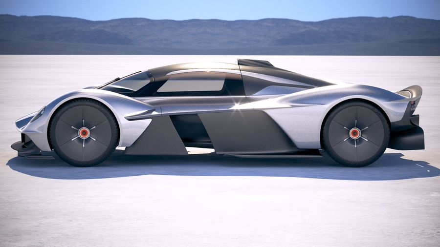 Aston Martin Valkyrie 2018 royalty-free 3d model - Preview no. 7