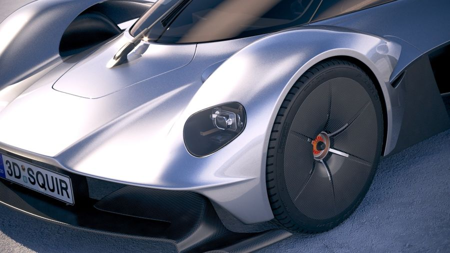 Aston Martin Valkyrie 2018 royalty-free 3d model - Preview no. 3