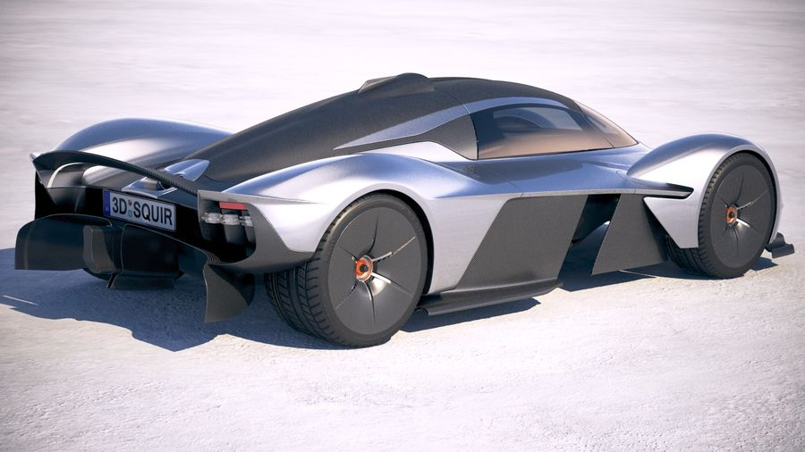 Aston Martin Valkyrie 2018 royalty-free 3d model - Preview no. 5