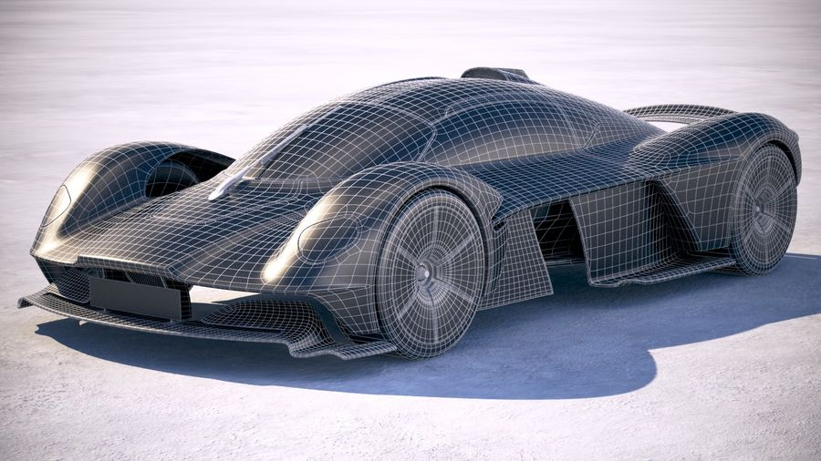 Aston Martin Valkyrie 2018 royalty-free 3d model - Preview no. 20