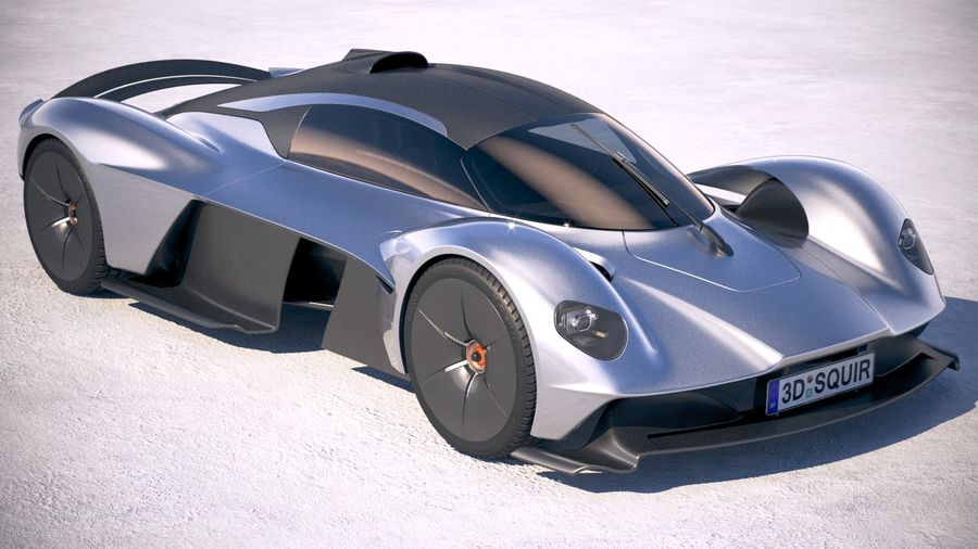 Aston Martin Valkyrie 2018 royalty-free 3d model - Preview no. 12
