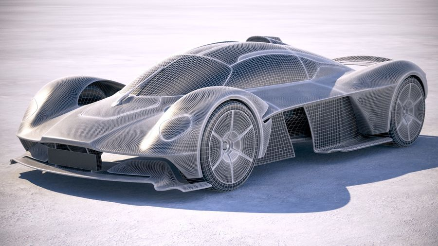 Aston Martin Valkyrie 2018 royalty-free 3d model - Preview no. 18
