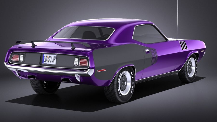 Plymouth Hemi Cuda - Barracuda 1971 VRAY royalty-free 3d model - Preview no. 6