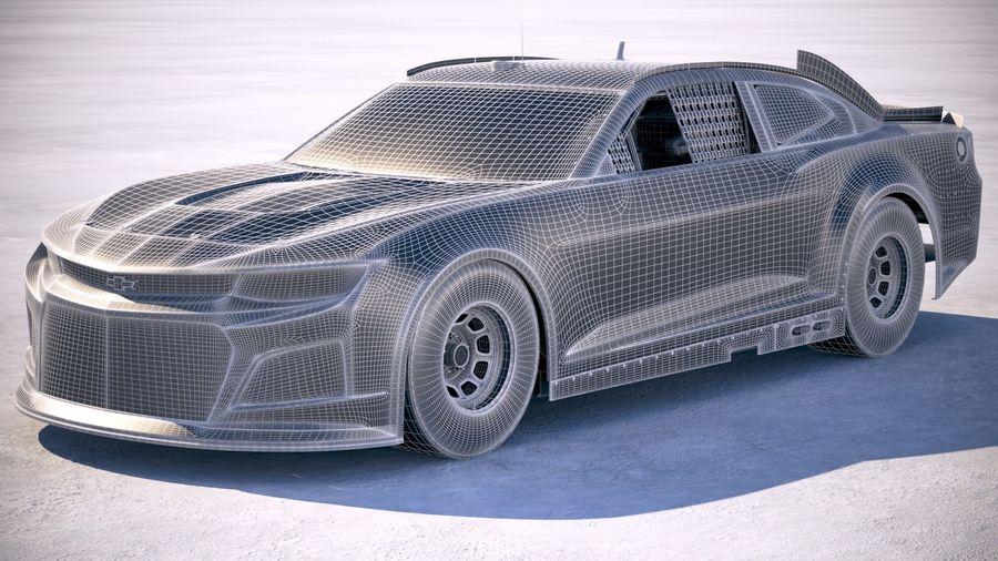 NASCAR Chevrolet Camaro 2018 royalty-free modelo 3d - Preview no. 27