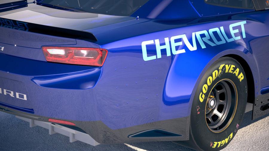 NASCAR Chevrolet Camaro 2018 royalty-free modelo 3d - Preview no. 4