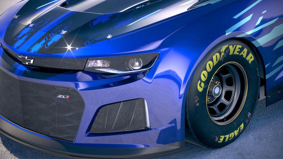 NASCAR Chevrolet Camaro 2018 royalty-free modelo 3d - Preview no. 3