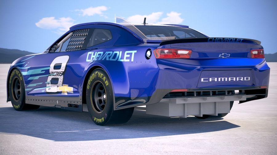 NASCAR Chevrolet Camaro 2018 royalty-free modelo 3d - Preview no. 14