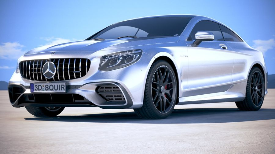 Мерседес S63 AMG купе 2018 royalty-free 3d model - Preview no. 13