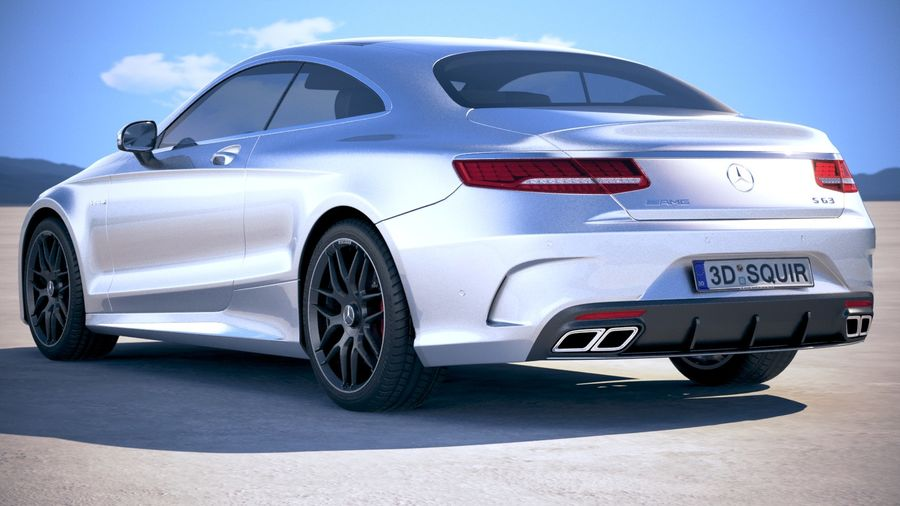 Мерседес S63 AMG купе 2018 royalty-free 3d model - Preview no. 14
