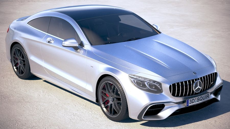 Мерседес S63 AMG купе 2018 royalty-free 3d model - Preview no. 12