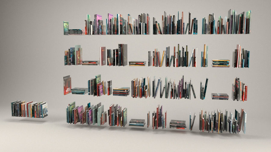 Book collection royalty-free 3d model - Preview no. 2