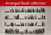 Book collection 3d model