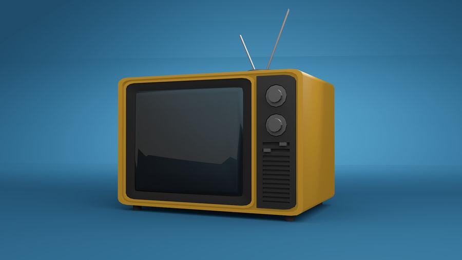 Retro TV 3D-model royalty-free 3d model - Preview no. 3