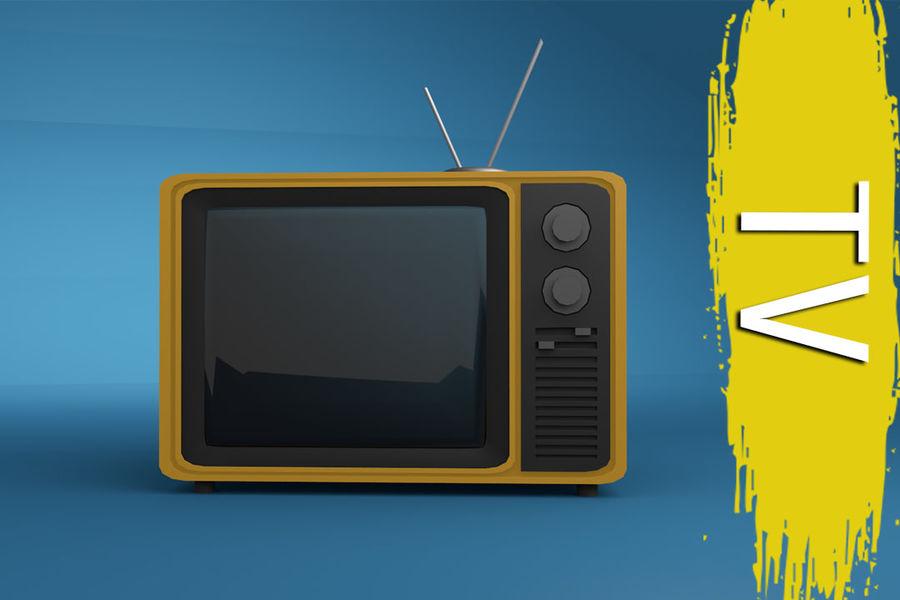 Retro TV 3D-model royalty-free 3d model - Preview no. 1