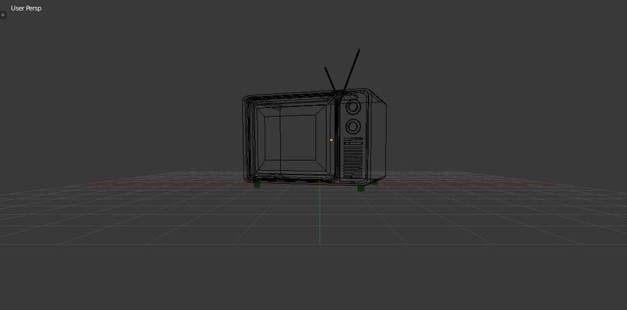 Retro TV 3D-model royalty-free 3d model - Preview no. 7