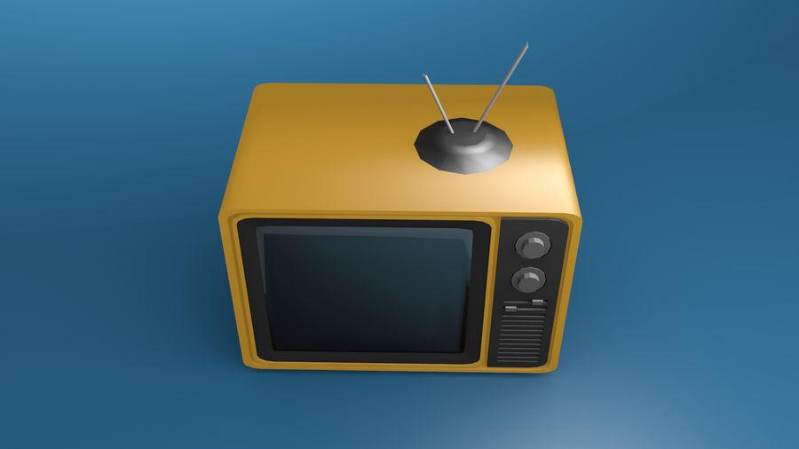 Retro TV 3D-model royalty-free 3d model - Preview no. 4