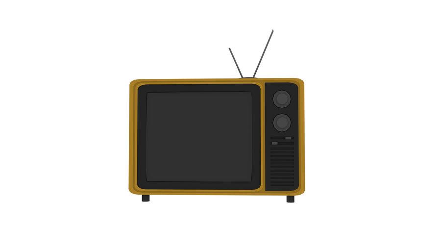 Retro TV 3D-model royalty-free 3d model - Preview no. 5