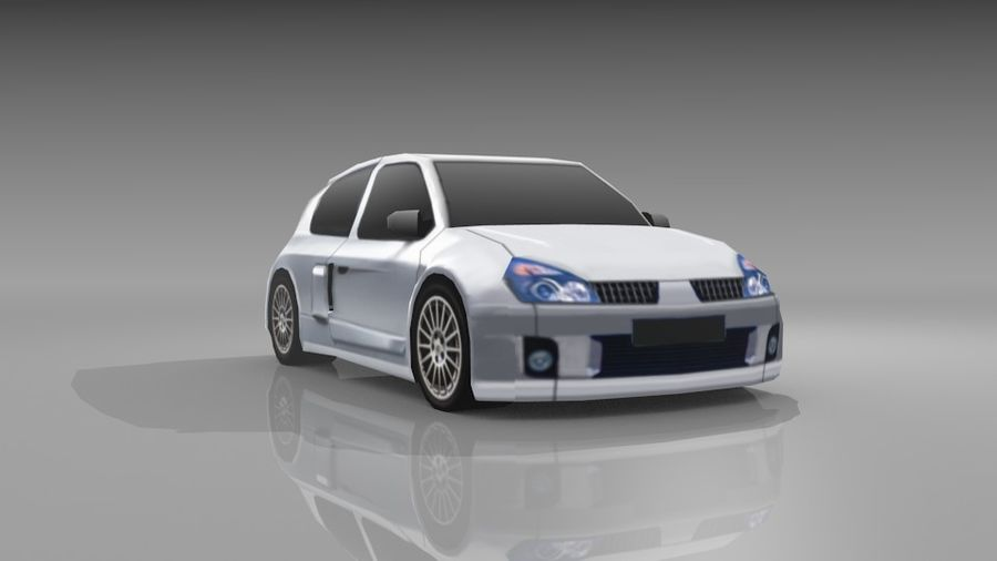 Renault Clio Sport royalty-free 3d model - Preview no. 4