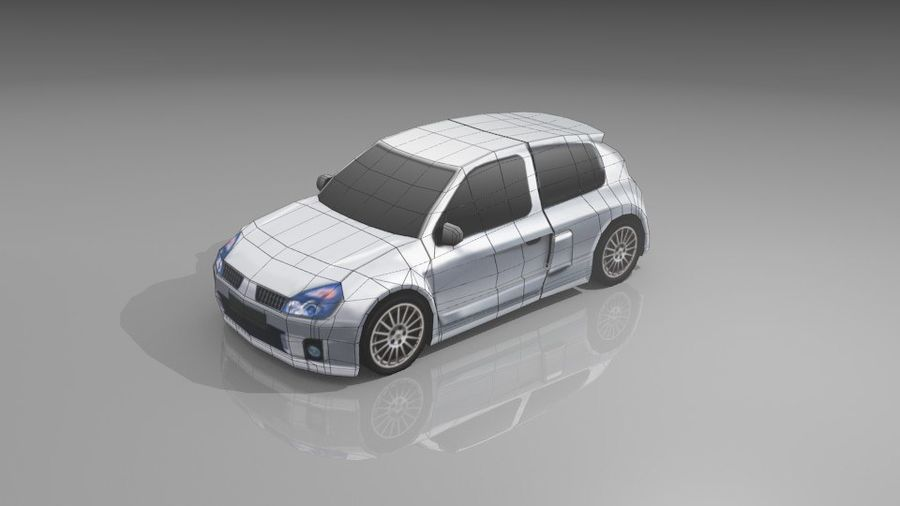 Renault Clio Sport royalty-free 3d model - Preview no. 12