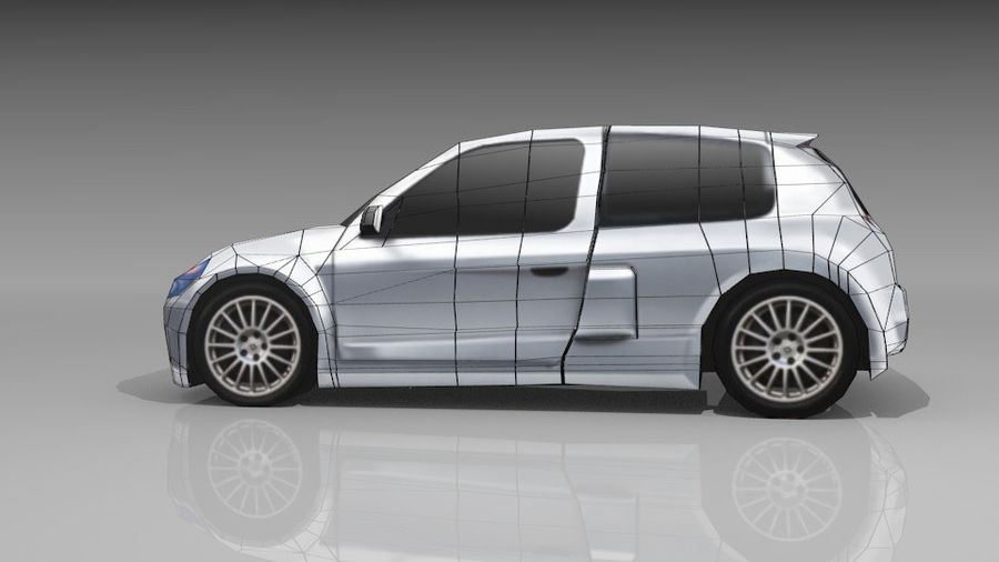 Renault Clio Sport royalty-free 3d model - Preview no. 10