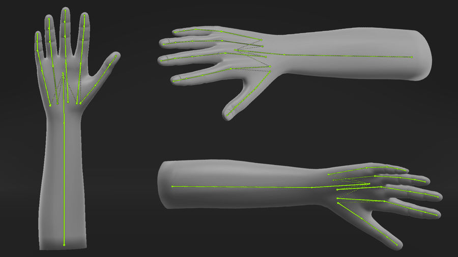 Realistic Hand-Rigged royalty-free 3d model - Preview no. 4