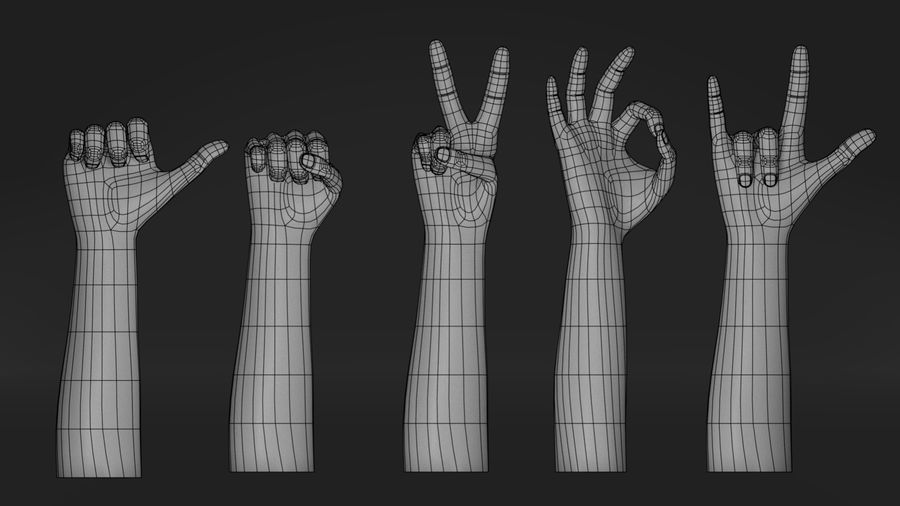 Realistic Hand-Rigged royalty-free 3d model - Preview no. 6