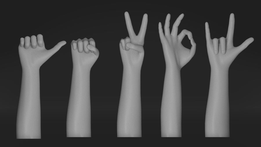 Realistic Hand-Rigged royalty-free 3d model - Preview no. 5