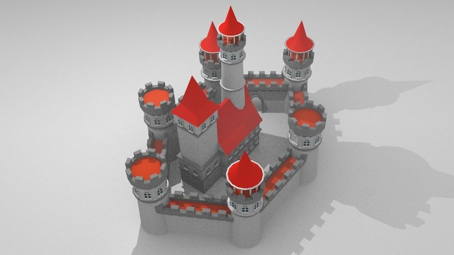 Castle royalty-free 3d model - Preview no. 7