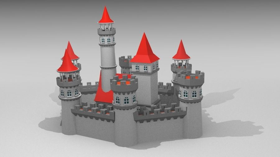 Castle royalty-free 3d model - Preview no. 9