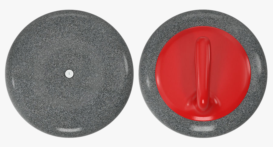 Curling Stone royalty-free 3d model - Preview no. 7