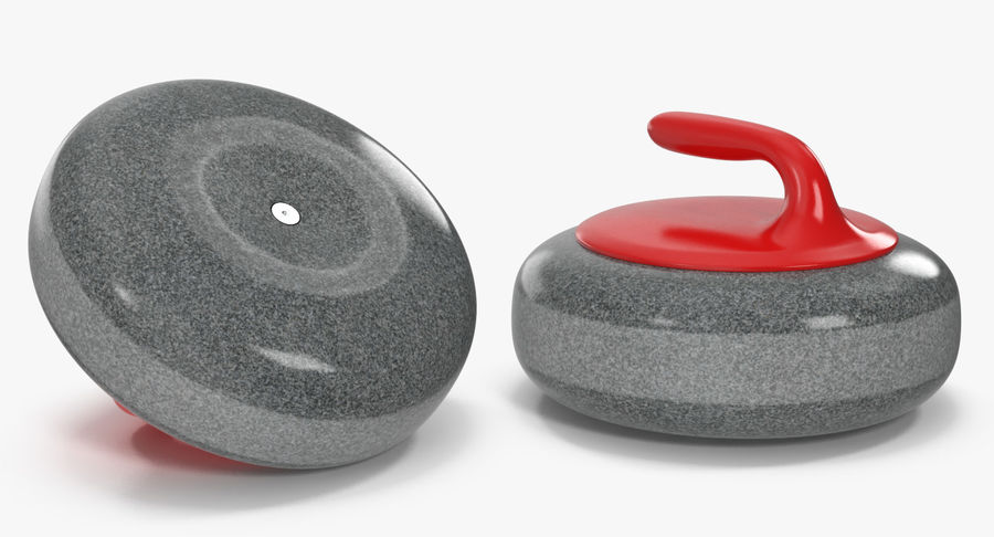 Curling Stone royalty-free 3d model - Preview no. 5