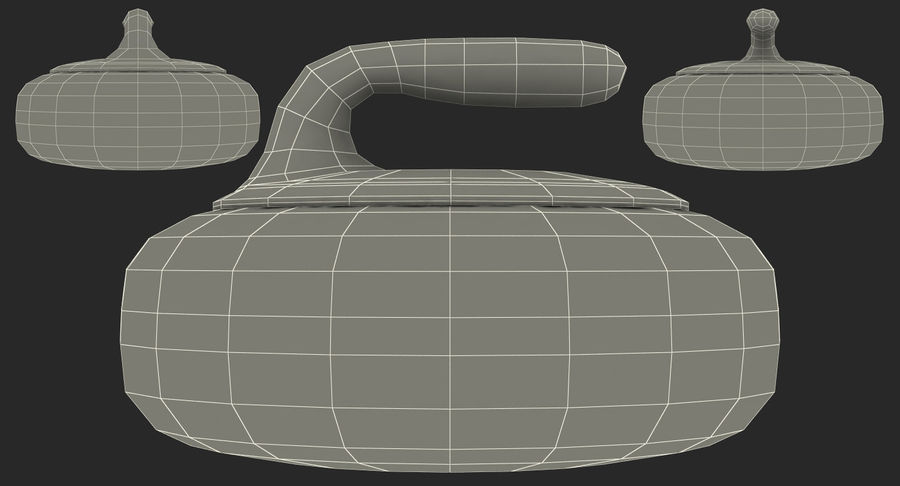 Curling Stone royalty-free 3d model - Preview no. 17