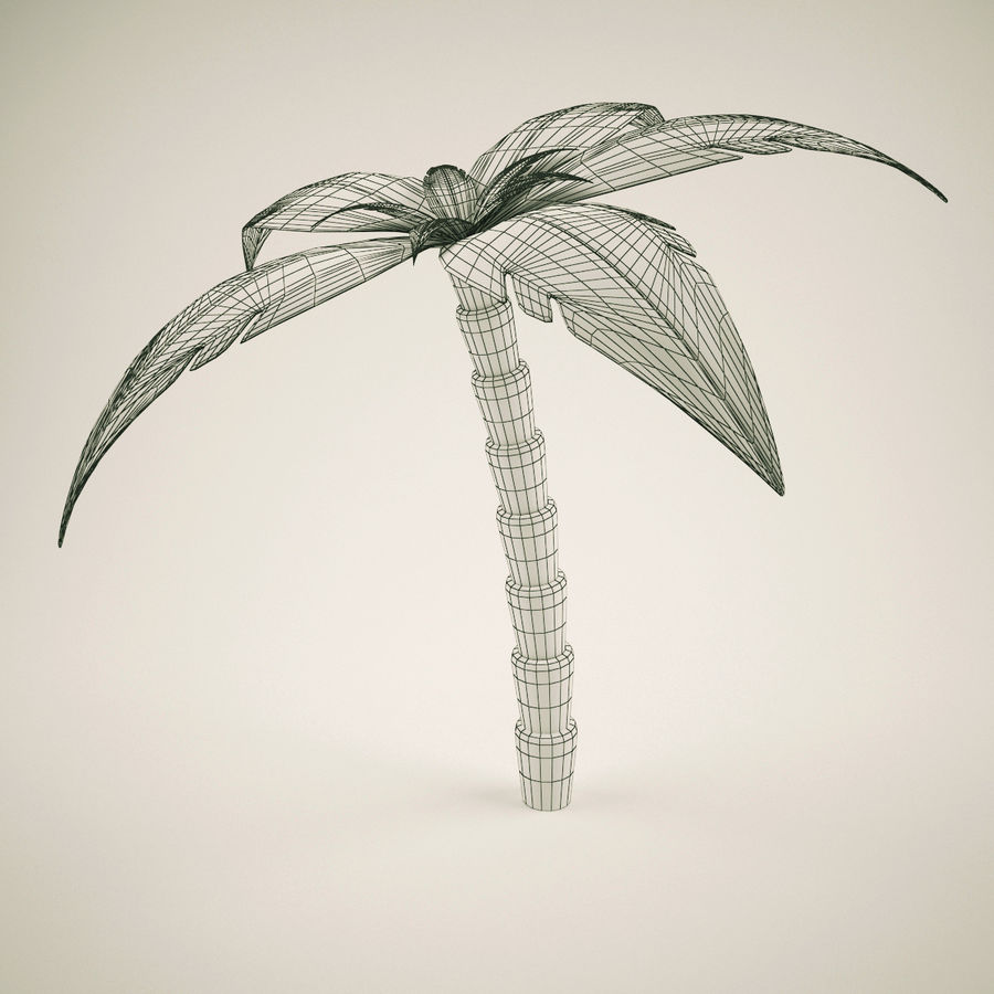 Palm Tree  Cartoon 2 royalty-free 3d model - Preview no. 4