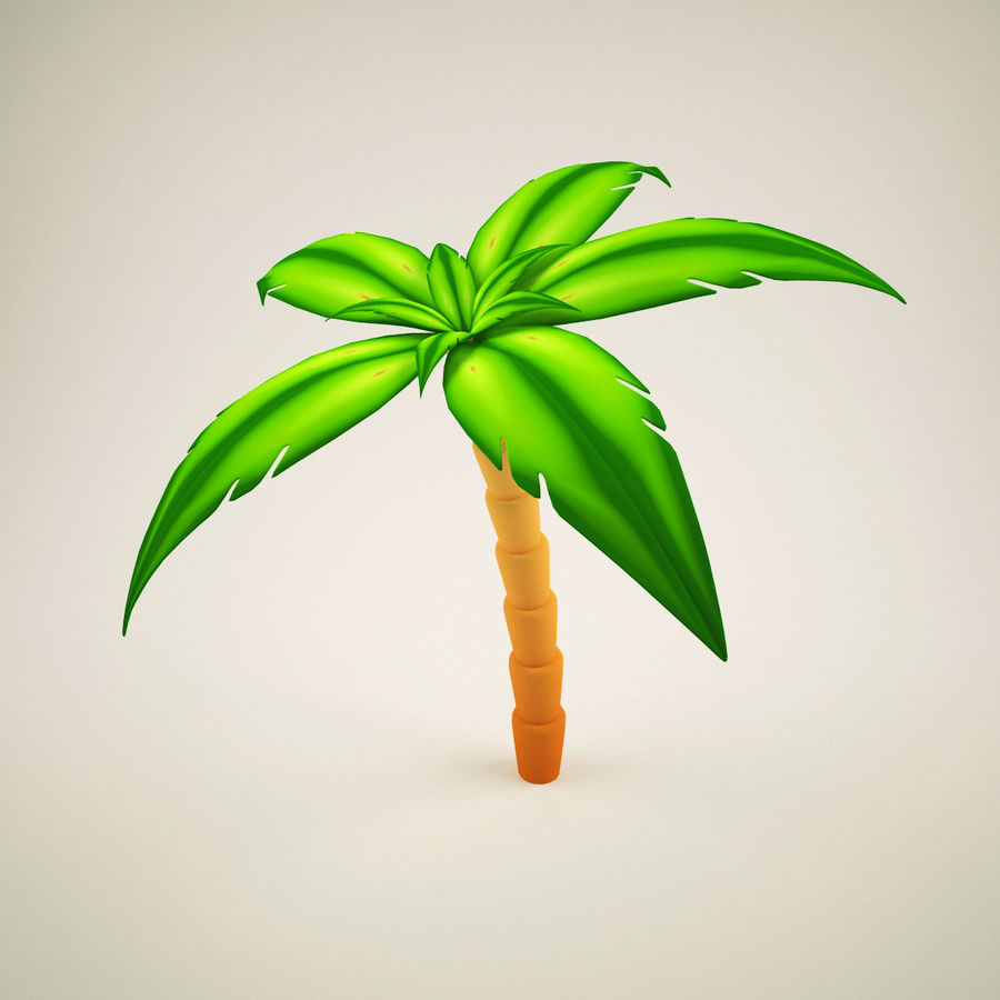 Palm Tree  Cartoon 2 royalty-free 3d model - Preview no. 3