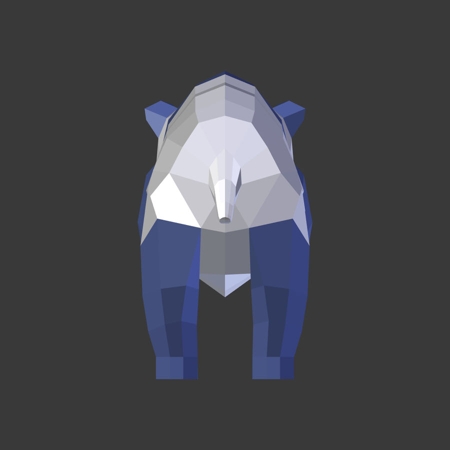 Bear_Panda_LOW POLY royalty-free modelo 3d - Preview no. 15