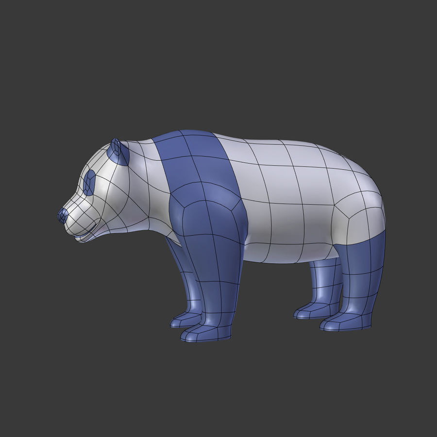 Bear_Panda_LOW POLY royalty-free modelo 3d - Preview no. 5