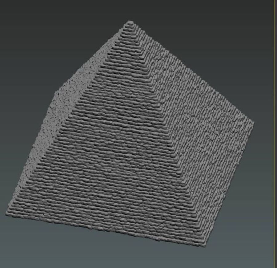 Egypt Giza Pyramid royalty-free 3d model - Preview no. 5