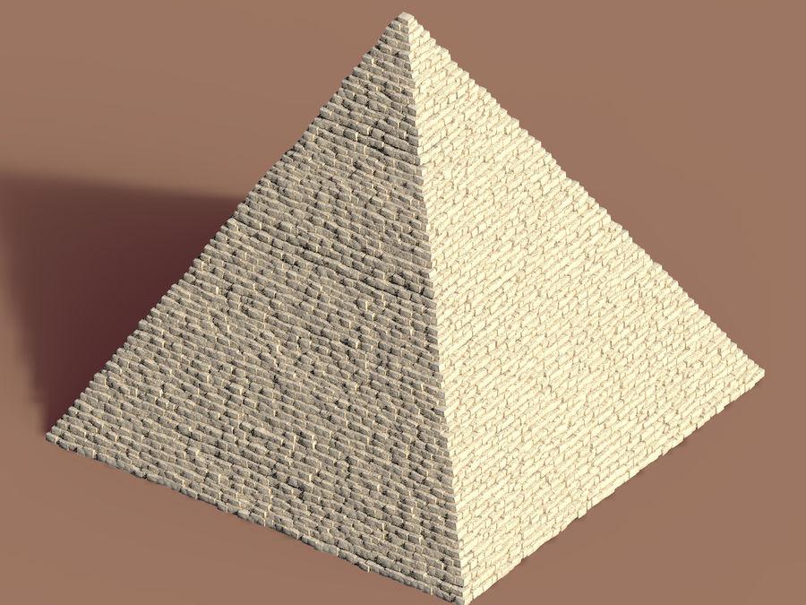 Egypt Giza Pyramid royalty-free 3d model - Preview no. 3