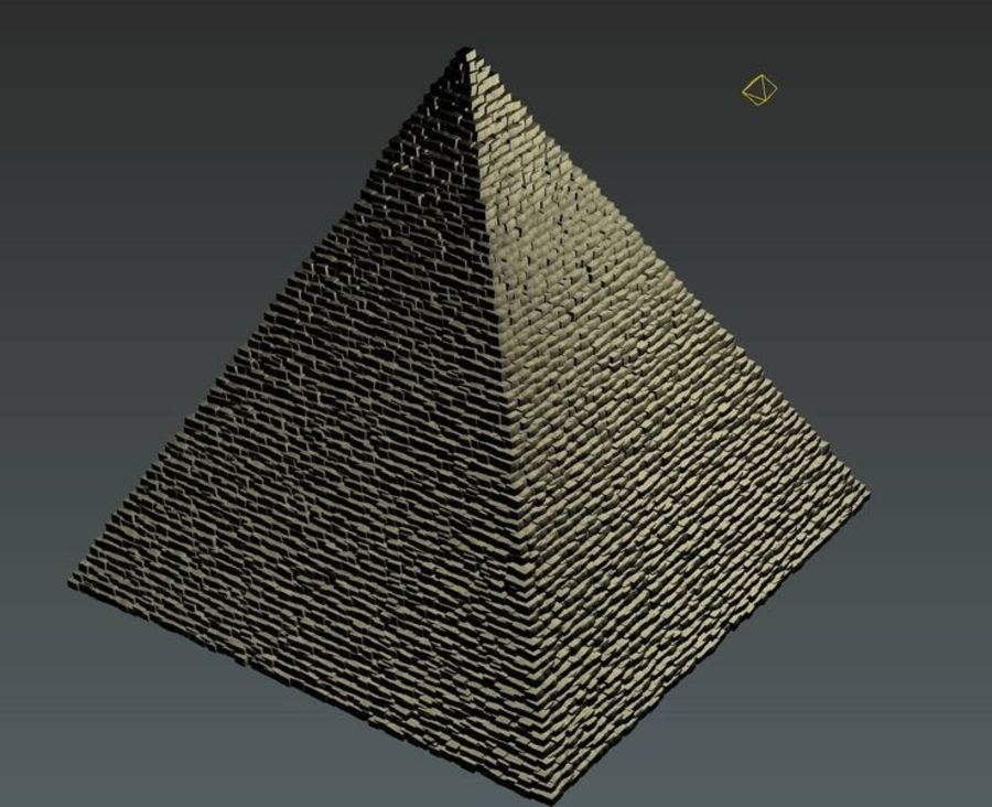 Egypt Giza Pyramid royalty-free 3d model - Preview no. 4