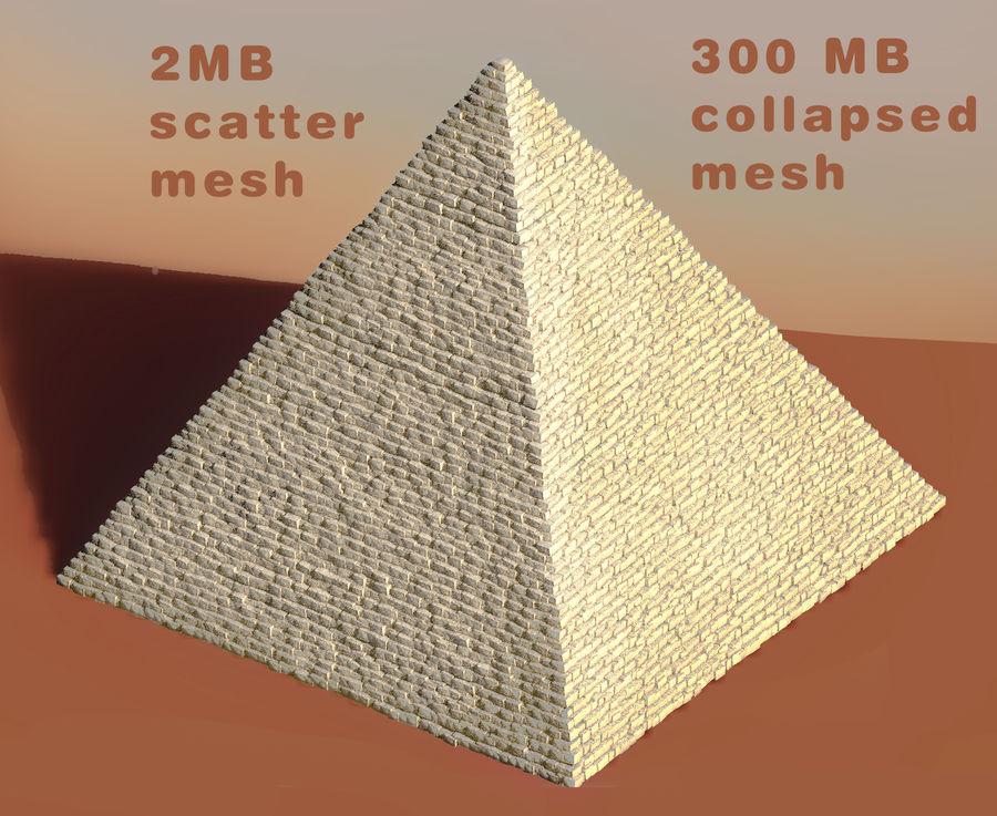 エジプトギザピラミッド royalty-free 3d model - Preview no. 2