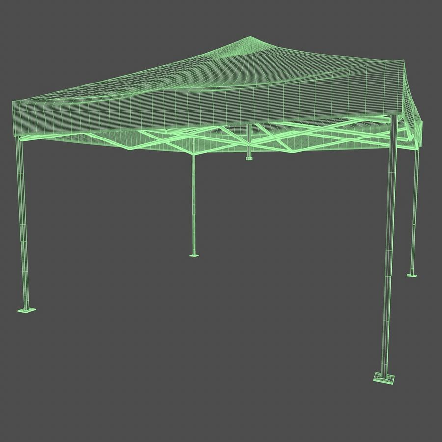 Tenda Evento Nera royalty-free 3d model - Preview no. 4